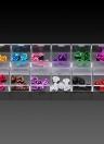 Prego 1Set 3D Art Emulational Flores secadas 12 cores Flores de alumínio para unhas Dicas Dedos Decoração Flores com caixa de armazenamento