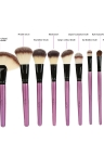 Abody 24pcs Makeup Brush Set Essential Cosmetic Kit with Cosmetic Bag