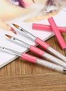 Abody Peinture Nail Art Pinceau Set Cristal Pen # 6 brosse en nylon Head Nail Art Pen luxe Acrylique strass poignée Outils Nail bricolage