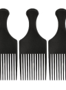 Anself 3Pcs Afro Comb Curly escova de cabelo pente cabeleireiro Styling Preto Ferramenta para homem e mulher