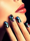 1 Pcs DIY Nail Tip Craft Detalhes no fina prego lantejoulas Paillette Glitter Cosméticos Moda Nail Stickers poloneses