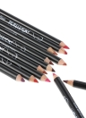 Original QiBest 12Pcs / Box Lip Pencil Lipliner Pen Longa duração impermeável Lip forros 12 cores Lip Makeup Pen Set
