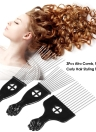 3Pcs Metal Afro Comb African American Pick Comb Hair Brush