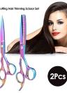 2Pcs Hair Cutting Set Hair Thinning Scissor Hair Shear Kit for Hairdressing Salon Haircut Tool for Adult & Children