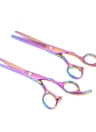 2Pcs Hair Cutting Set Cabelo Dilendo Scissor Hair Shear Kit para Cabeleireiro Salon Haircut Tool for Adult & Children