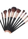 10pcs / pack Sistema de herramientas de los cepillos del maquillaje Cosmético profesional Foundation Powder Concealer Blush Eyeshadow