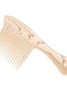 Dente largo grande Pente do cabelo Detangling Escova de cabelo Antiestático Pele Cueca de couro cabeludo Alongar dentes Escova de cabeleireiro