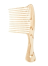 Peine de dientes grandes y anchos Peine de desenredante Cepillo antiestático Pecho de cuero cabelludo Alarga los dientes Cepillo de peluquería