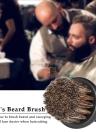 Men's Beard Brush Barber Hair Sweep Brush Mustache Shaving Brush Neck Face Duster Brush for Hairdressing Salon Household