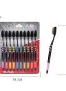 10pcs Cepillo de dientes de bambú suave de carbón Cepillo de dientes negro Cepillo de cuidado de dientes oral ecológico para niños y adultos