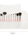 Abody 12pcs Makeup Brush Set Essential Cosmetic Kit com Cosmetic Bag