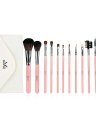 Abody 12pcs Set de brosse à maquillage Essential Cosmetic Kit with Cosmetic Bag