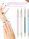 5pcs Nail Art Painting Brush 7/9/11/15/20mm Crystal Acrylic Nail Art Painting Drawing Line Brush Nylon Hair Pen Nail Liner Manicure Tool