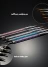 5pcs Nail Art Painting Brush 7/9/11/15 / 20mm di cristallo acrilico Nail Art Painting illustrazione di spazzola filo di nylon della penna dei capelli Nail Liner attrezzo del manicure