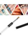 Herramientas Consejos 1pc BQAN uñas de arte UV Gel pluma de la pintura del cepillo del arte del clavo del color del gradiente del cepillo ULTRAVIOLETA de acrílico del polaco del gel 3D efecto de diseño