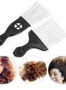 2Pcs Mental Pick Comb Afro Comb Hair Brush Coiffure Styling Tool
