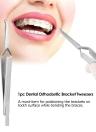 1pc Dental Bracket Tweezers Orthodontic Reverse Action Serrated Dentistry Instruments Stainless Steel