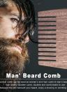 Men's Beard Hair Comb Wooden Mustache Comb Male Facial Hair Comb Anti-static Male's Pocket Comb