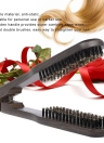 Straightening Comb Double Sided Brush Clamp Hair Hairdressing Natural Bristle Hair Comb Hairstylig Tool