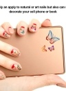 24 Sheets Multistyle Nail Art Decorations Butterfly 3D Stickers Gel Polish Tips DIY Self-adhesive Easy Transfer