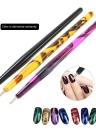 1pc Nail Art 3D Pintura Dotting Magnetic Magnet Pen Cats Eyes Polish Tool