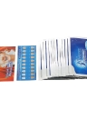 14pcs / box 3D dentes blanqueando tiras Whitening Double Elastic Gel Strips Dental Tools