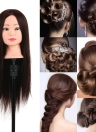 80% Real Human Hair Training Dummy Head with Clamp Holder