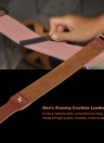 Men's Shaving Leather Strap Cowhide Throat Razor Strop Straight Cut Sharpening Strop Belt for Barber Male Shaving Tool