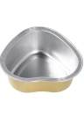 10Pcs 30g Melting Wax Bowl Reusable Heart Shape Aluminum Foil Bowl Film Hard Wax Waxing Hair Removal Bean Bowl