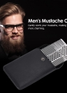 Stainless Steel Beard Comb Male Beard Shaving Brush Men's Mini Mustache Pocket Comb Facial Hair Brush
