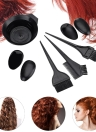 5Pcs Salon Hair Coloring Dyeing Hair Kit DIY Hair Coloring Tool Set Bowl & Brushes & Two-edged Comb & Ear Covers