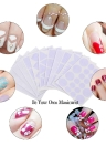 12 Pcs Nail Sticker French Nail Art Guide French Tip Guide Nail Art Stencil Geometry Circle Stars Heart DIY Manicure Tool