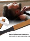 Men's Leather Sharpening Strop Shaving Strap For Barber Straight Razor Folding Knife Sharpener Belt Handmade Acrylic Handle