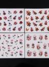 50 Feuilles Nail Autocollant Set Mixte Papillon Fleur Motif Nail Papier Astuce Nail Art Styling Set DIY Filigrane Manucure