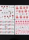 50 Sheets Nail Sticker Set Mixed Butterfly Flower Pattern Nail Paper Tip Nail Art Styling Set DIY Watermark Manicure