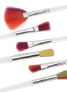 10pcs pinceaux de maquillage Set Brush Cosmetic Kit arc-en-Nylon Hair Powder Eyeshadow Concealer Foundation Blush Brush outil de beauté
