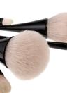 5pcs del maquillaje cepillos del cosmético del kit del cepillo de cintura fina de mango de la herramienta maquillaje sombra de ojos en polvo Corrector Fundación Blush Brush