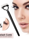 Eyelash Comb Brush Curler Mascara Applicator Stainless Steel Pins ABS Handle Cosmetic Makeup Tools
