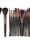 18Pcs Cosmetic Tools Make-up Kit de toilette Ensemble de brosse professionnel en laine