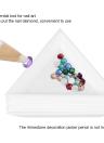 10Pcs Nail Triangular Plate Nail Art Storage Display Plate Stickers Drilling Storage Box Diamond Rhinestone Drill Box DIY Nail Art Accessory