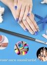1Pc French Nail Pen UV Gel Painting Brush Nail Drawing Polishing Brush Nail Decoration Pen DIY Manicure Tool