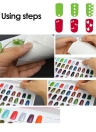 312 Pcs/Sheet Sponge Double-side Adhesive Fixing Sticker for Nail Gel Polish Display Color Card Book Chart Nail Art Tool
