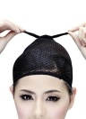 Black Hair Net Weaving Net Black Elastic Strethable Wig Cap Mesh Fishnet Wig Cap
