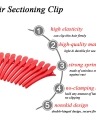 12Pcs Sectioning Clips Plastic Hair Clamp Grips Hairdressing Styling Salon Tool