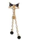 1pc del Bowknot del anillo del ombligo perforación del cuerpo del Rhinestone de la barra del botón joyería del acero inoxidable Accesorios Piercing para chicas Negro