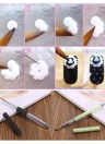 Nail Art Cepillo BQAN Salon herramienta de talla mango de metal del Rhinestone de silicona cabeza de cepillo de nylon de Pelo Negro