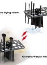 Maquillage Holder Brush Tour Arbre Air Séchage Brush 26 Trou brosse cosmétiques Etendoir Brush Organizer Support Noir