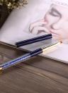 1pc Nail Art Peinture cristal acrylique Pinceau Gel UV Nail Pen Dessin Liner Nail Salon DIY Nail Flat Brush Pen Bleu foncé