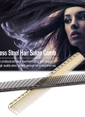 Stainless Steel Hair Comb Professional Hair Salon Hairdressing Steel Comb Hair Cutting Metal Comb Black