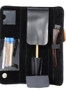 Stainless Steel Pen Razor Set Salon Magic Engraved Pen for DIY Hair Eyebrows Beards Styling Pen Razor With Blade Tweezers PU Bag